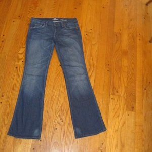 7 FOR ALL MANKIND A POCKET FLARE JEANS 29 8 LONG